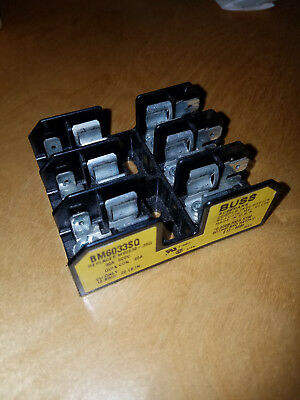 BUSS BM6033SQ FUSE HOLDER 30A 600V Class CC. used