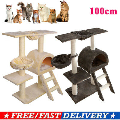 100CM Cat Scratching Tree Post Gym Toy House Condo Kitten Scratching Tower Pole