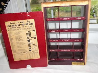 Vintage 1940's Eversharp Red Top Lead For Mechanical Pencils Store Display Case