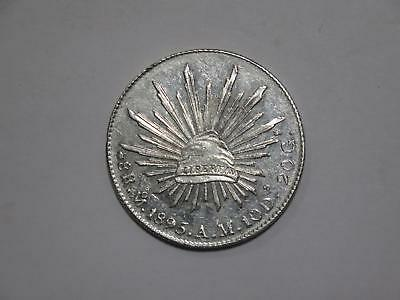 Mexico 1895 Mo Am 8 Reales Silver Crown Size Type World Coin Collection Lot #xxx