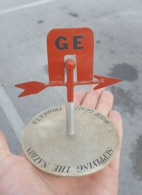 Vintage GE General Electric Small Metal Store Display Sign Weathervane Appliance