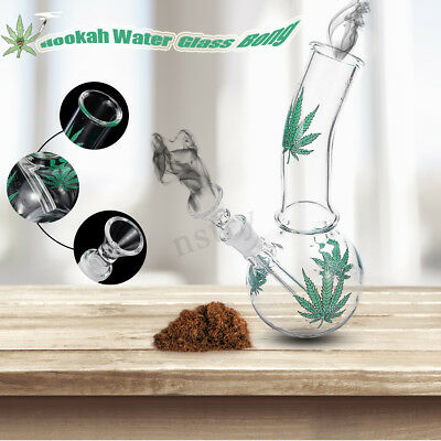 Green Maple Hookah Water Glass Bong Smoking Pipes Glassware Shisha Tobacco AU