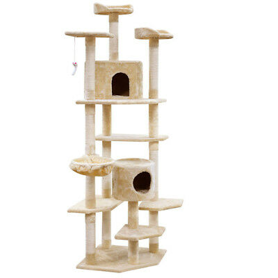 203cm Large Cat Scratching Tree Post Tower Condo Furniture Gym House Play Toy AU