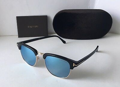 TOM FORD HENRY FT248 TF 248 05X Black Gold Blue Mirror Clubmaster Limited  editio -  199.00   PicClick 1a53b8aa4e