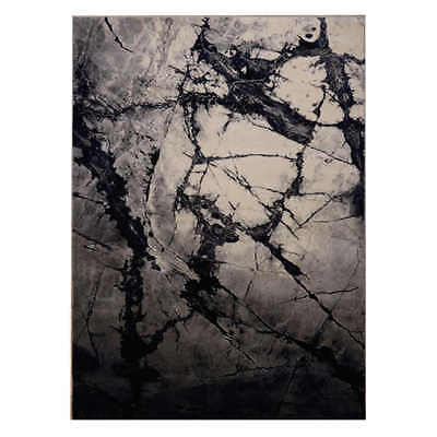 New Saray Rugs Serenity S52 Elegant Contemporary Rug 160cm x 230cm Onyx Black
