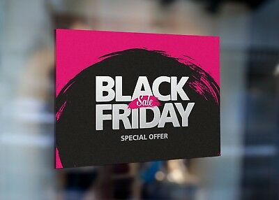 Black Friday Sale Special Offer Large Self Adhesive Window Shop Sign 3418