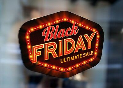 Black Friday Ultimate Sales Retro Large Self Adhesive Window Shop Sign 3420