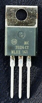 MC7824CT 24V 1.0A TO-220 Voltage Regulator by ON Semi. 27-38V in, up to 2.2A out