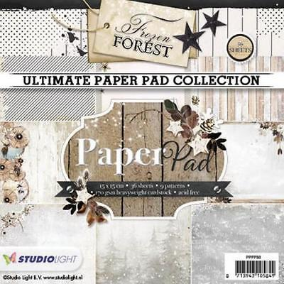 Paper-pad Papier-block Frozen Forest Weihnacht Winter 15x15 Studiolight PPFF88