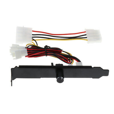 3 Channels PC Cooler Cooling Fan Speed Controller for CPU Case HDD DDR / VGA