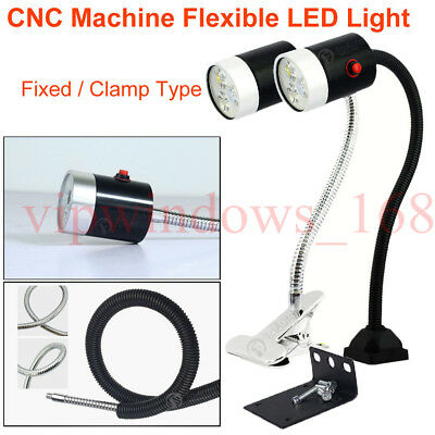 Flexible CNC Machine LED Light Lighting for Lathe Milling Router Sewing,3W/6W/9W