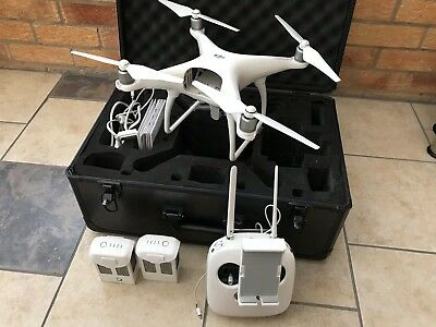 Phanton 4 Drone Totally  Complete With Shell Carry Case Perfect Flight