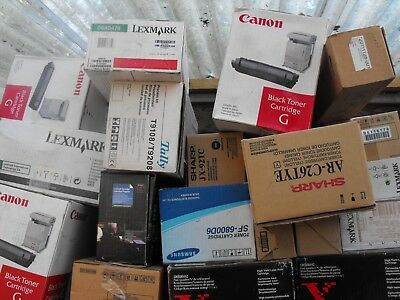 toner cartridges 50 job lot sharp cannon minolta etc sealed new old stock