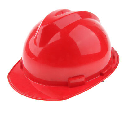 12-Inch Hard Hat Forestry Safety Helmet Work Protective Plastic Cap- Red