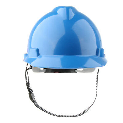 11-Inch Hard Hat Forestry Safety Helmet Work Protective Plastic Cap- Blue