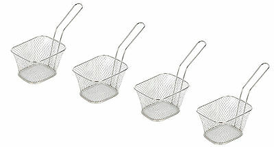 Set of 4 Mini Chip Baskets Mini Fryer Serving Food Presentation Basket Kitchen