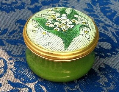 Halcyon Days Enamels Trinket Box Or Pill Pot