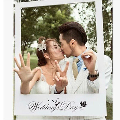 Wedding Day Paper Selfie Frame Background Photo Booth Props Picture Party Supply