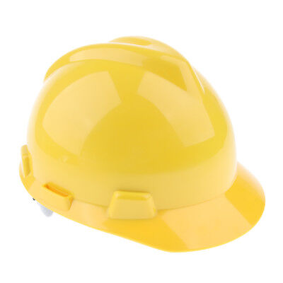 11-Inch Hard Hat Forestry Safety Helmet Work Protective Plastic Cap- Yellow