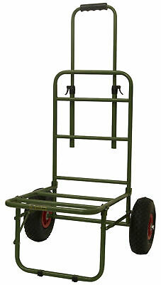 Oxbridge Folding Pike Carp Fishing Trolley Heavy Duty Seat Box Barrow