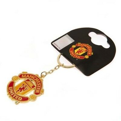Official product Manchester united metal club crest keyring