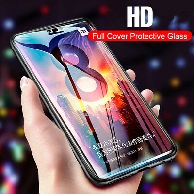 9H  Cover 5D Curved Tempered Glass Screen Protector For Xiaomi 8 SE Redmi Note 5