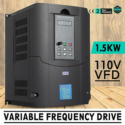 1.5KW 110V Variable Frequency Drive 2HP VFD perfect motor AVR CNC Single Phase
