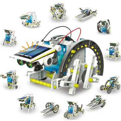 13 in 1 DIY Assembled Solar Powered Robot Educational Toys Kit for Kids Children