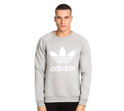 ADIDAS ORIGINALS CALIFORNIA TREFOIL CREW SWEATSHIRT GREY SIZE S M L XL *BNWT*