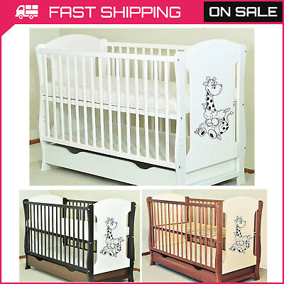 Baby Cot With Drawer/junior Bed Choice Selection Of Mattress Fast Delivery