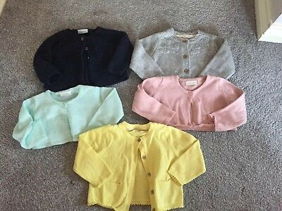 Baby Girls Bundle Of Next Cardigans Age 6-9 Months
