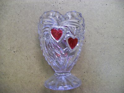 lovely little heart shaped glass vase