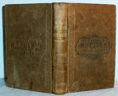 1867 HOME & FARM RECIPES Cooking BREWING Wine Medical HORSES Farrier BLACKSMITH