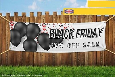 Black Friday 50% Sale Business Promotion Shop Heavy Duty PVC Banner Sign 3421