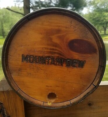 Amazing Vintage Mountain Dew Wood Wooden Keg Barrel Clean Beauty