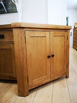 Montreal Solid Oak 2 Door Corner Cupboard / Cabinet / Storage Unit