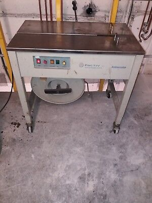 Pactiv Packaging Bander Strapping Machine . Ambassador. Adv packaging solutions.