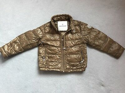 Moncler Baby Kids Boys Down Jacket Coat SZ 18-24month, Colour Brown