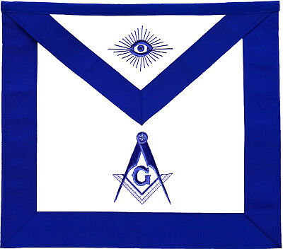 Masonic Master Mason Apron Blue Lodge Hand Embroidered (Ma-081-V)