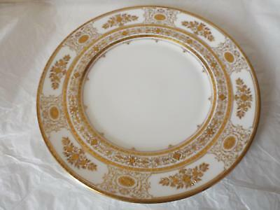 "Vintage Minton ARGYLE GOLD & WHITE DINNER PLATE 10.75"" 1st Quality England"