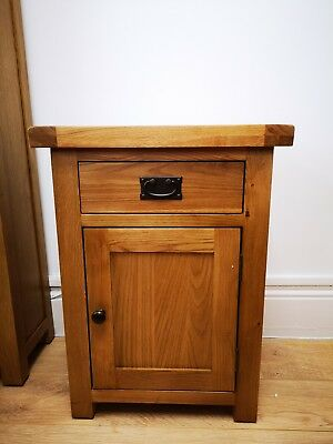 Montreal Solid Oak 1 Door 1 Drawer Small Pot Cupboard / Cabinet / Storage Unit