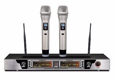 Guarda 200-Channel Dual Professional Wireless Microphone System 240 ft range