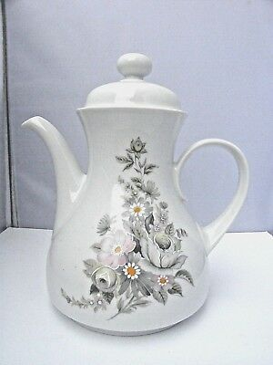 Vintage Retro Winterling Markleuthen Bavaria porcelain floral dec Tea Coffee Pot
