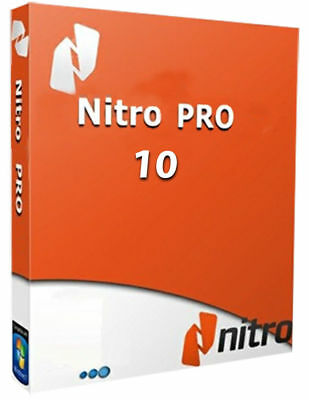 Nitro Pro 10 PDF Viewer, Creator, Editor, Converter for Instant Delivery