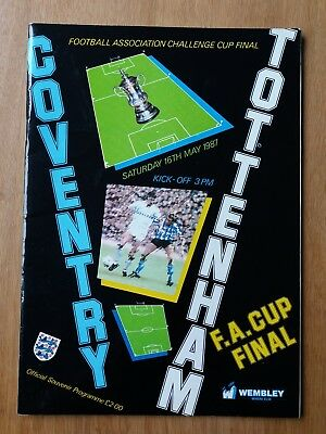 AUTOGRAPHED / SIGNED 1987 FA Cup Final programme - Coventry vs Tottenham/Spurs