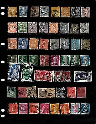France: Nice 'vintage' Stamp Collection Displayed On 6 Sheets . See Scans