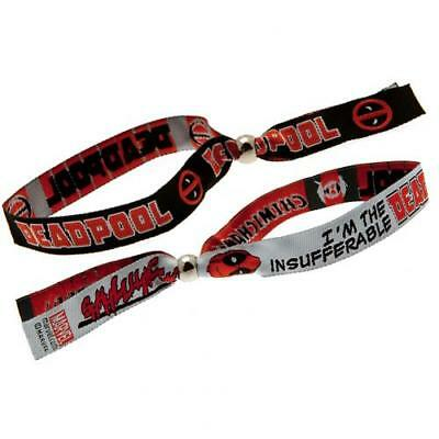 Deadpool Festival Wristbands Arm Band Fan Fun Gift New Official Licensed Product