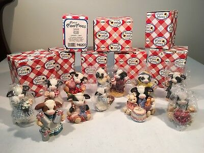 Lot Of 11  Mary Moo Moos, Great Condition /free Shipping
