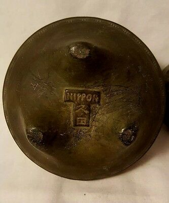 Antique NIPPON Incense Burner Handcrafted 2 Piece Openwork Lid Nice L@@K
