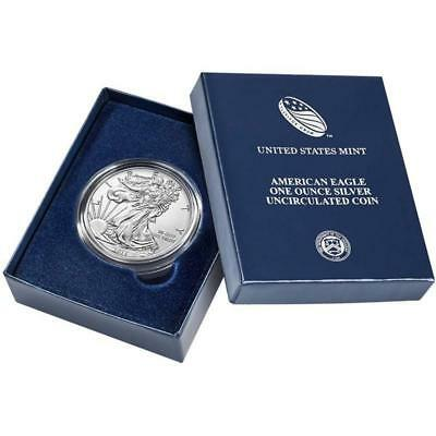 2015 W Silver Burnished Eagle Dollar Uncirculated Coin United States Mint in OGP